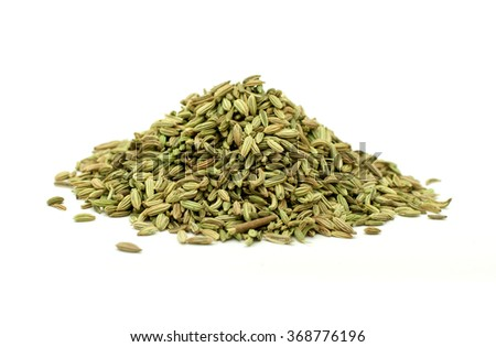 anise seeds on a white background