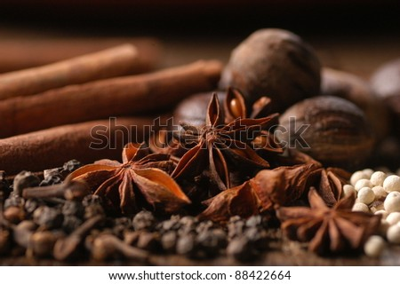 Aniseed Spices with other spices