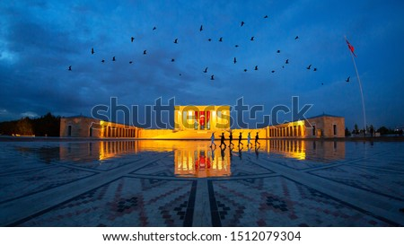 Anitkabir - Mausoleum of Ataturk, Ankara Turkey flag