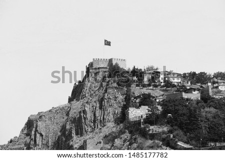 ankara castle black and white pictures, Ankara Turkey