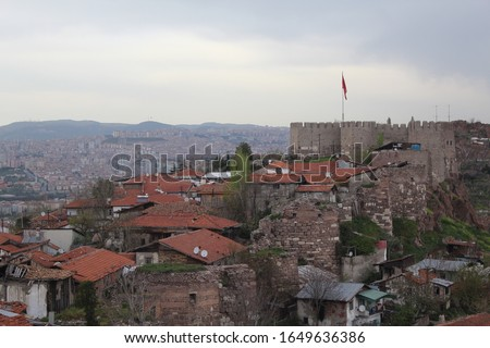 Ankara Castle in Turkey (Aprel 2019) (Ankara Kalesi)  Stok fotoğraf ©