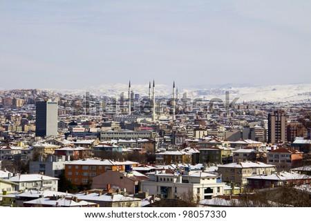 Ankara in winter - capital of Turkey