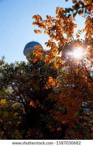 Ankara's landmarks from the Archeological and Botanical park Stok fotoğraf ©