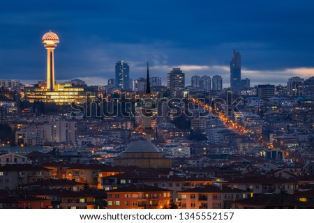 Ankara skyline at night - Ankara, Turkey