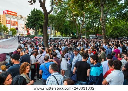 ANKARA, TURKEY - JUNE 12: Demonstration at Ankara for 'Istanbul Taksim Gezi Park' . June 12 , 2013 in Ankara, Turkey  #248811832