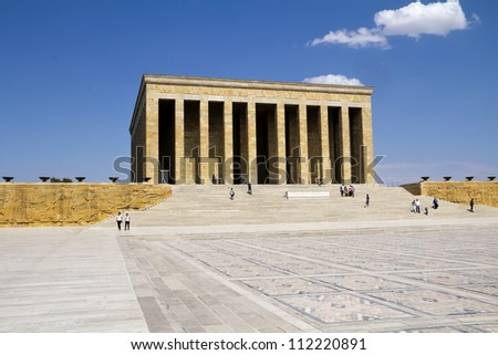 Ankara, Turkey - Mausoleum of Ataturk, Mustafa Kemal Ataturk, first president of the Republic of Turkey.