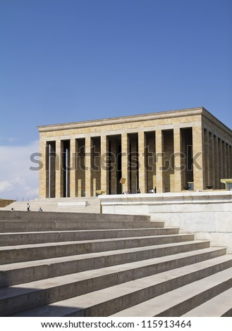 Ankara, Turkey - Mausoleum of Ataturk, Mustafa Kemal Ataturk, first president of the Republic of Turkey.