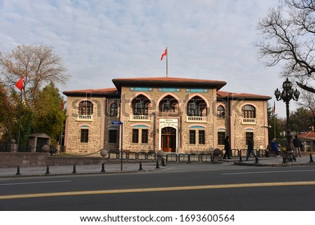 Ankara/Turkey-04,01,2020:The historical Turkish Grand National Assembly