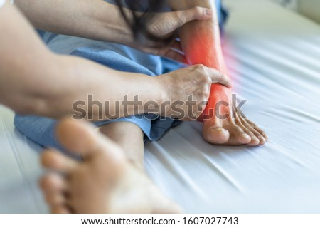 Ankle pain from instability, arthritis, gout, tendonitis, fracture, nerve compression (tarsal tunnel syndrome), infection and poor structural alignment of leg or foot in ageing patient