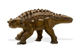 Ankylosaurus isolated on white background. Ankylosaurus is a herbivore genus of armored dinosaur lived during cretaceous period