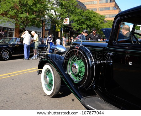 ANN ARBOR, MI - JULY 13: Chrysler Six at the Rolling Sculpture car show July 13, 2012 in Ann Arbor, MI.