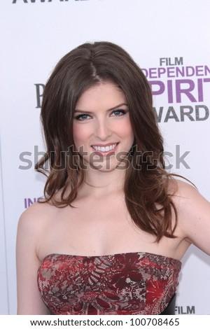Anna Kendrick at the 2012 Film Independent Spirit Awards, Santa Monica, CA 02-25-12