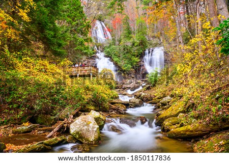 Photo of  Anna Ruby Falls, Georgia, USA in autumn.
