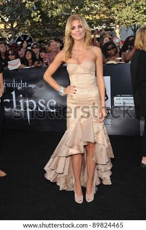 "AnnaLynne McCord at the premiere of ""The Twilight Saga: Eclipse"" at the Nokia Theatre at L.A. Live. June 24, 2010  Los Angeles, CA Picture: Paul Smith / Featureflash"
