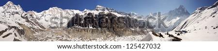 Annapurna base camp panorama, himalayas, Nepal #125427032