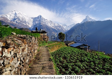 Annapurna Mountain View from Village #133651919
