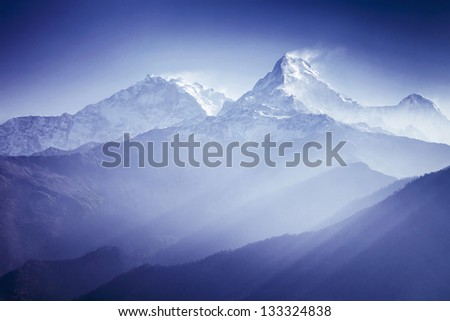 Annapurna mountains in sunrise light #133324838