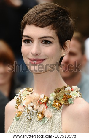 "Anne Hathaway arriving for European premiere of ""The Dark Knight Rises"" at the Odeon Leicester Square, London. 18/07/2012 Picture by: Steve Vas / Featureflash"