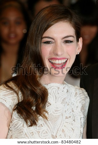 Anne Hathaway arriving for the European Premiere of 'One Day' at Westfield, west London. 23/08/2011  Picture by: Alexandra Glen / Featureflash
