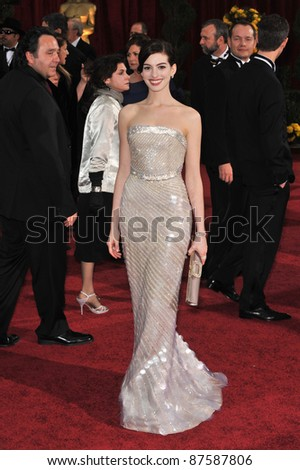 Anne Hathaway at the 81st Academy Awards at the Kodak Theatre, Hollywood. February 22, 2009  Los Angeles, CA Picture: Paul Smith / Featureflash