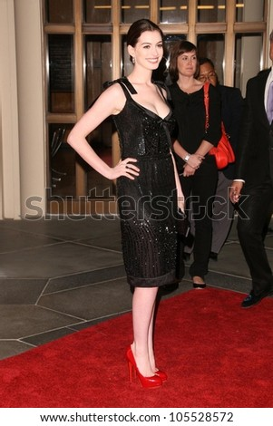 Anne Hathaway  at the West Coast Premiere of 'Valentino - The Last Emperor'. LACMA, Los Angeles, CA. 04-01-09