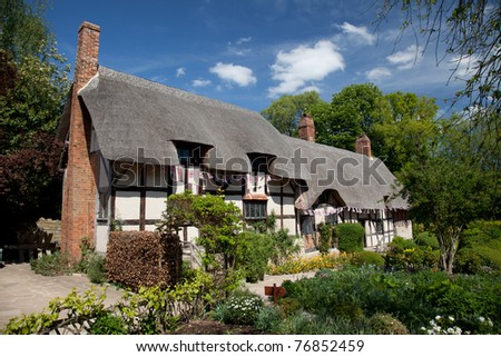 Anne Hathaway's Cottage where Shakespeare courted his future wife Straford Upon Avon England