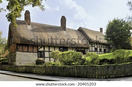 stock photo : anne hathaways cottage home of william shakespeares wife ...