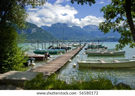 Annecy lake in French Alps, region Savoie