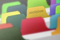 Annihilate word on index paper