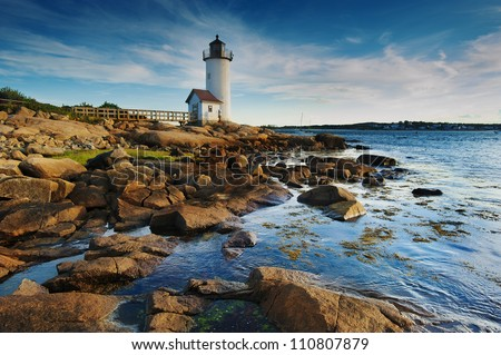 Annisquam lighthouse off the north coast of Massachusetts
