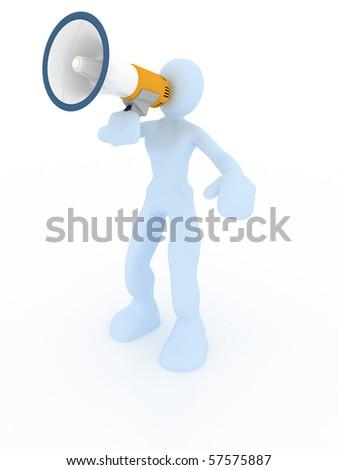 announce concept - stock photo