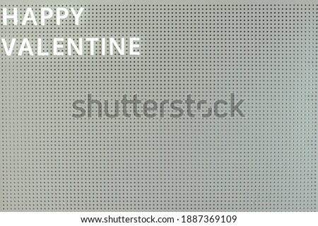 Announce pegboard with text Happy Valentine in concept of love and Valentine. Stock photo ©
