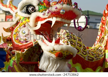 Annual Chinese New Year Parade in Los Angeles. - stock photo