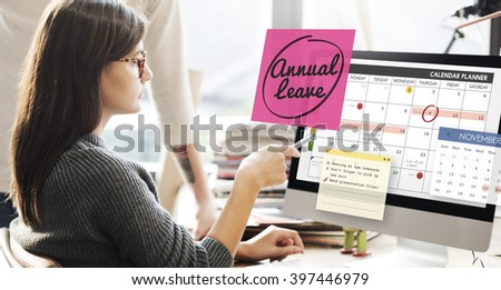 Annual Leave Schedule Planning To Do List Concept #397446979