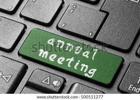 Annual Meeting/Annual Meeting button on keyboard #500511277