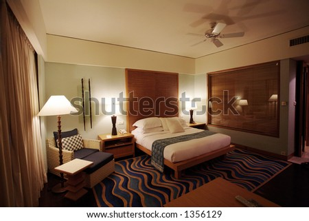 Anonymous five stars hotel bedroom