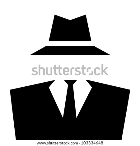 Anonymous invisible man whit suit and hat.