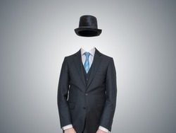 Anonymous or invisible man in suit.