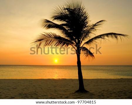 Another Day is Done: Infinity Beach Resort on the Island of Roatan, Honduras - stock photo