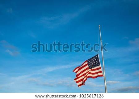 Another School Shooting brings memories and the American Flag to move to Half mast after school shooting in Florida February 2018