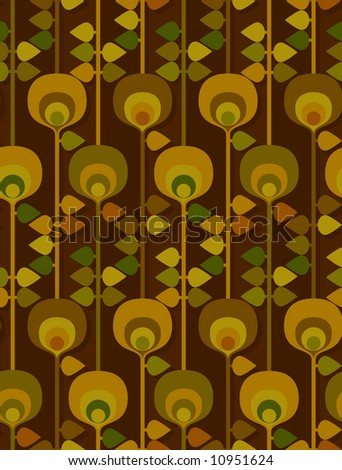 Another seventies pattern. Seamless. - stock photo