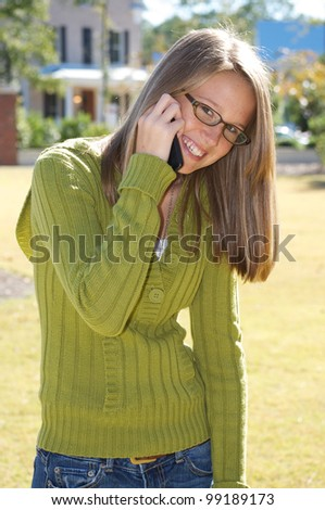 Another Teen Girl on Phone
