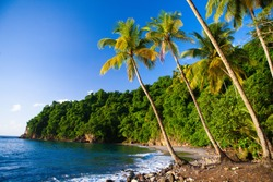 Anse Couleuvre beach, Martinique Island, French territory in the West Indies.