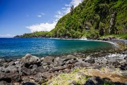 Anse des Cascades bay in Sainte-Rose on Reunion Island