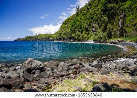 Anse des Cascades bay in Sainte-Rose on Reunion Island Stock photo ©