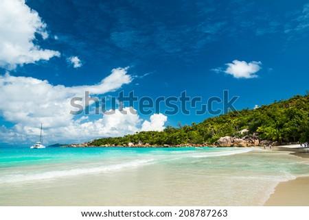 Anse Lazio beach, Praslin island, Seychelles #208787263