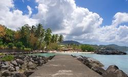 Anse Mitan - Fort-de-France - Martinique - Tropical island of Caribbean sea