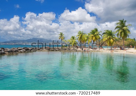 Anse Mitan - Fort-de-France - Martinique - Tropical island of Caribbean sea