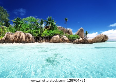 Anse Source d'Argent beach La Digue island Seyshelles