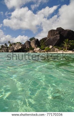 Anse Source d`Argent, La Digue, seychelles - stock photo